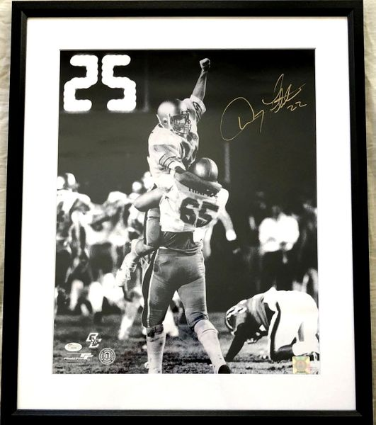 Doug Flutie autographed Boston College 1984 Hail Mary Pass 16x20 poster size photo matted and framed