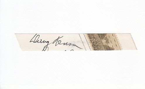 Doug Kenna autograph or cut signature