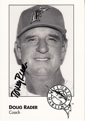Doug Rader autographed 1993 Florida Marlins photo card