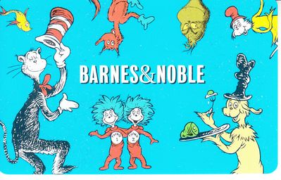 Dr. Seuss Cat in the Hat Barnes and Noble gift card (used)