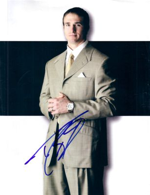 Drew Brees autographed full page magazine photo