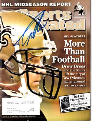 Drew Brees autographed New Orleans Saints 2007 Sports Illustrated