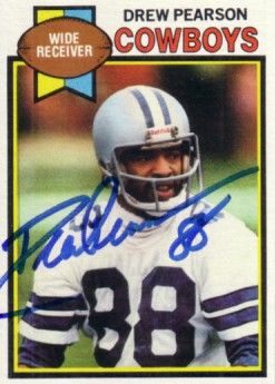 Drew Pearson autographed Dallas Cowboys 1979 Topps card