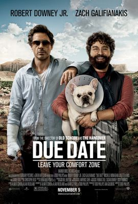 Due Date mini movie poster (Robert Downey Jr. & Zach Galifianakis)