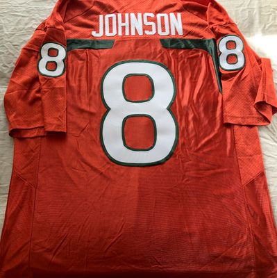 Duke Johnson Miami Hurricanes 2012 authentic Nike stitched orange jersey