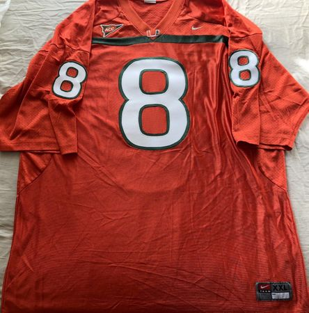 Duke Johnson Miami Hurricanes 2012 authentic Nike double stitched orange jersey
