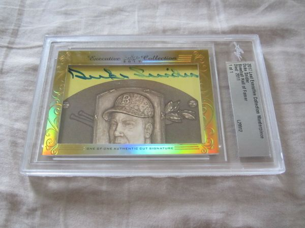 Duke Snider 2017 Leaf Masterpiece Cut Signature certified autograph card 1/1 JSA