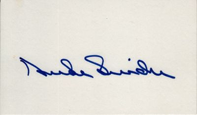 Duke Snider autographed 3x5 index card (JSA)