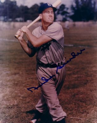 Duke Snider autographed Brooklyn Dodgers 8x10 batting photo