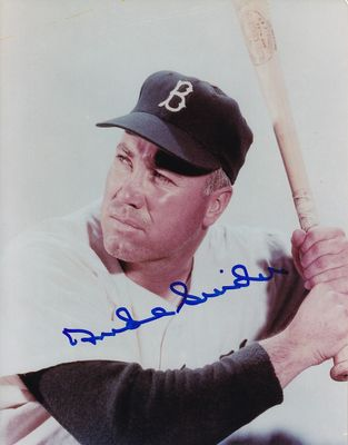 Duke Snider autographed Brooklyn Dodgers 8x10 close up photo