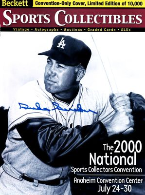 Duke Snider autographed Los Angeles Dodgers 2000 Beckett Sports Collectibles magazine cover