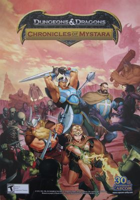 Dungeons & Dragons Chronicles of Mystara CAPCOM promo 14x20 poster