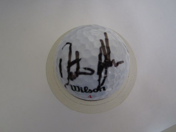 Dustin Johnson autographed golf ball