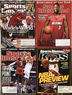 Dwayne Wade Miami Heat lot of 4 Sports Illustrated and SI for Kids magazines 2005 2006 and 2011