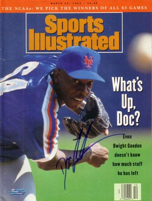 Dwight (Doc) Gooden autographed New York Mets 1993 Sports Illustrated (Steiner)