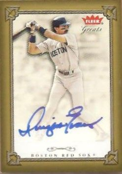 Dwight Evans certified autograph Boston Red Sox 2004 Fleer card