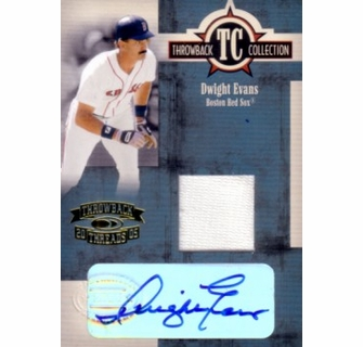 8f3828f0c Dwight Evans certified autograph Boston Red Sox 2005 Donruss game jersey  card
