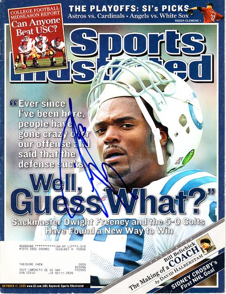 Dwight Freeney autographed Indianapolis Colts 2005 Sports Illustrated