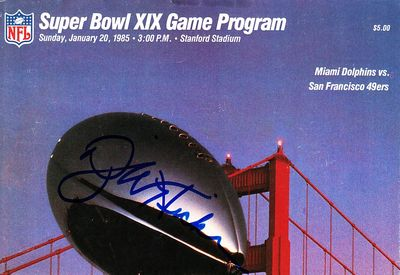 Dwight Hicks autographed cut Super Bowl 19 program cover