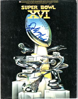 Dwight Hicks autographed Super Bowl 16 game program