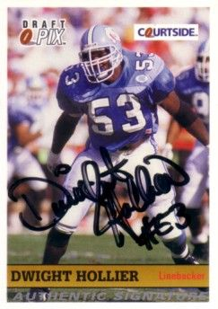 Dwight Hollier certified autograph North Carolina 1992 Courtside card