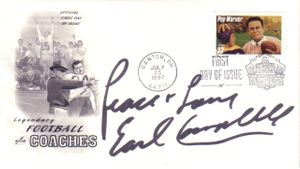 Earl Campbell autographed 1997 Pop Warner First Day Cover cachet
