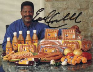 Earl Campbell autographed 6x9 inch promo photo card (JSA)