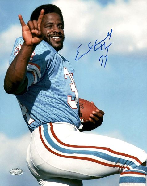 Earl Campbell autographed Houston Oilers 8x10 photo inscribed HT 77