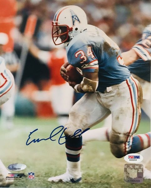 Earl Campbell autographed Houston Oilers 8x10 photo (TriStar and PSA/DNA)