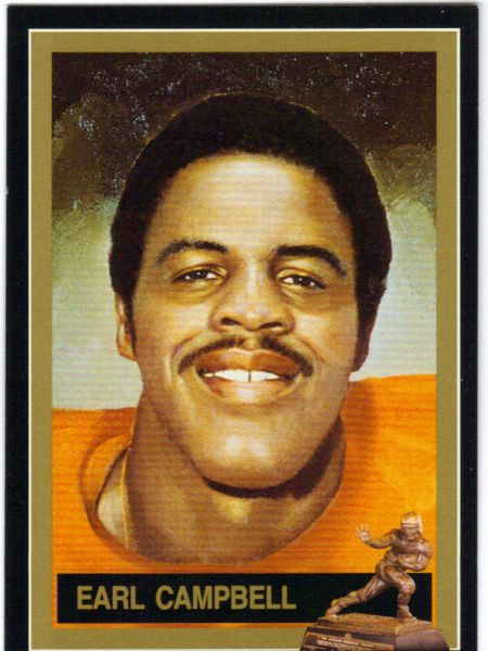 Earl Campbell Texas Longhorns 1977 Heisman Trophy winner card