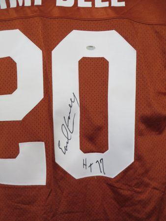Earl Campbell autographed Texas Longhorns authentic Nike stitched jersey inscribed HT 77 (Schwartz Sports)