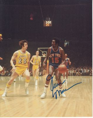 Earl Monroe autographed New York Knicks 8x10 photo