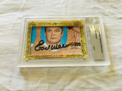 Earl Weaver 2018 Leaf Masterpiece Cut Signature certified autograph card 1/1 JSA