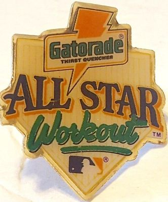 Early 1990s Gatorade MLB All-Star Game Workout pin NEW