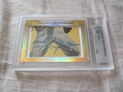 Early Wynn 2017 Leaf Masterpiece Cut Signature certified autograph card 1/1 JSA