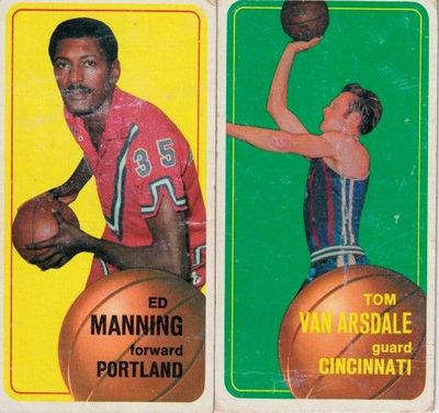 Ed Manning and Tom Van Arsdale 1970-71 Topps basketball cards (Fair condition)