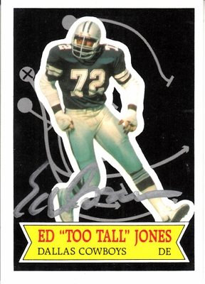 Ed (Too Tall) Jones autographed Dallas Cowboys 1984 Topps Glossy card