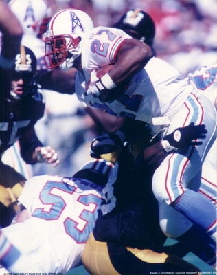 Eddie George 8x10 Houston Oilers photo