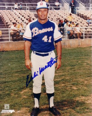 Eddie Mathews autographed Atlanta Braves 8x10 photo