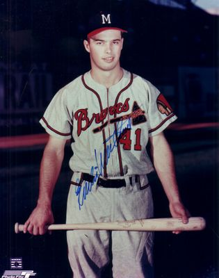 Eddie Mathews autographed Milwaukee Braves 8x10 photo
