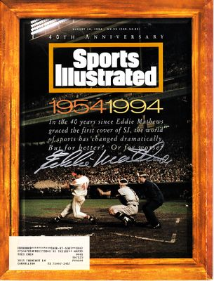 Eddie Mathews autographed Milwaukee Braves 1994 Sports Illustrated