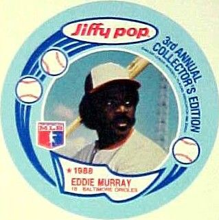 Eddie Murray Orioles 1988 Jiffy Pop disc