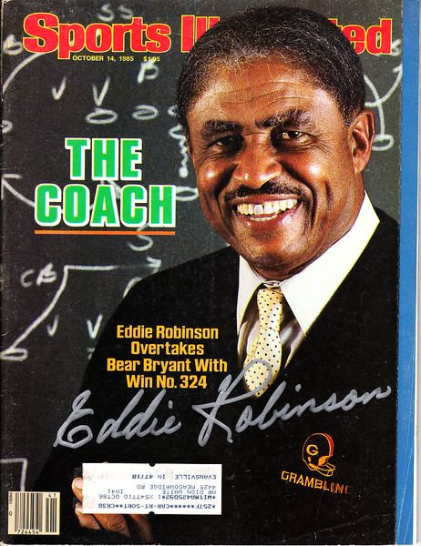 Eddie Robinson autographed Grambling State 1985 Sports Illustrated