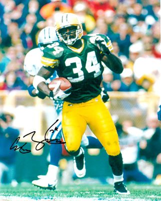 Edgar Bennett autographed Green Bay Packers 8x10 photo