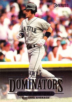 Edgar Martinez Seattle Mariners 1994 Donruss Dominators jumbo insert card #/10000