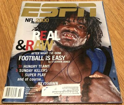 Edgerrin James autographed Indianapolis Colts 2000 NFL Preview ESPN Magazine