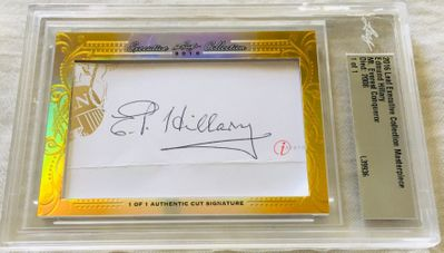 Edmund Hillary 2016 Leaf Masterpiece Cut Signature certified autograph card 1/1 JSA Mt. Everest