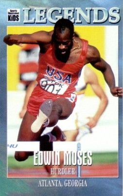 Edwin Moses Sports Illustrated for Kids Legends card