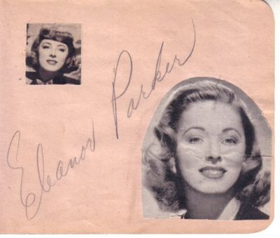 Eleanor Parker (The Sound of Music) autographed autograph album or book page