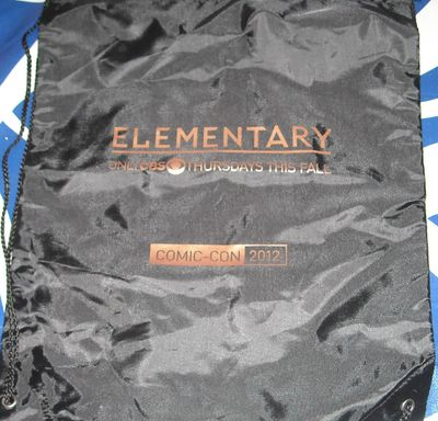Elementary 2012 Comic-Con CBS promotional backpack or book bag